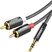 UGREEN 3.5Mm To 2Rca Audio Auxiliary Stereo Y Splitter Nylon Braided Cable 3FT Multi