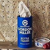 GREGORY GORDON MILLER ティシュー ティッシュボトル ブルー 120枚(60組) パルプ 車内 ドリンクホルダー フィット