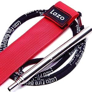 Lazo 携帯ふいご サイズ(最短13cm~最長60cm) カラビナ付き収納袋