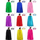 Adults Superhero Capes and Masks Bulk for Men Women Super Hero Dress Up Costume Party Supplies, 10 Pack