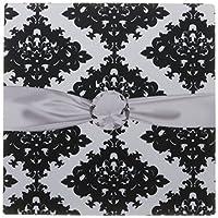 3drose LLC 8x 8x 0.25インチマウスパッド、太字ホワイト/ブラックダイヤモンドOrnate Damaskパターン( MP _ 102633_ 1)