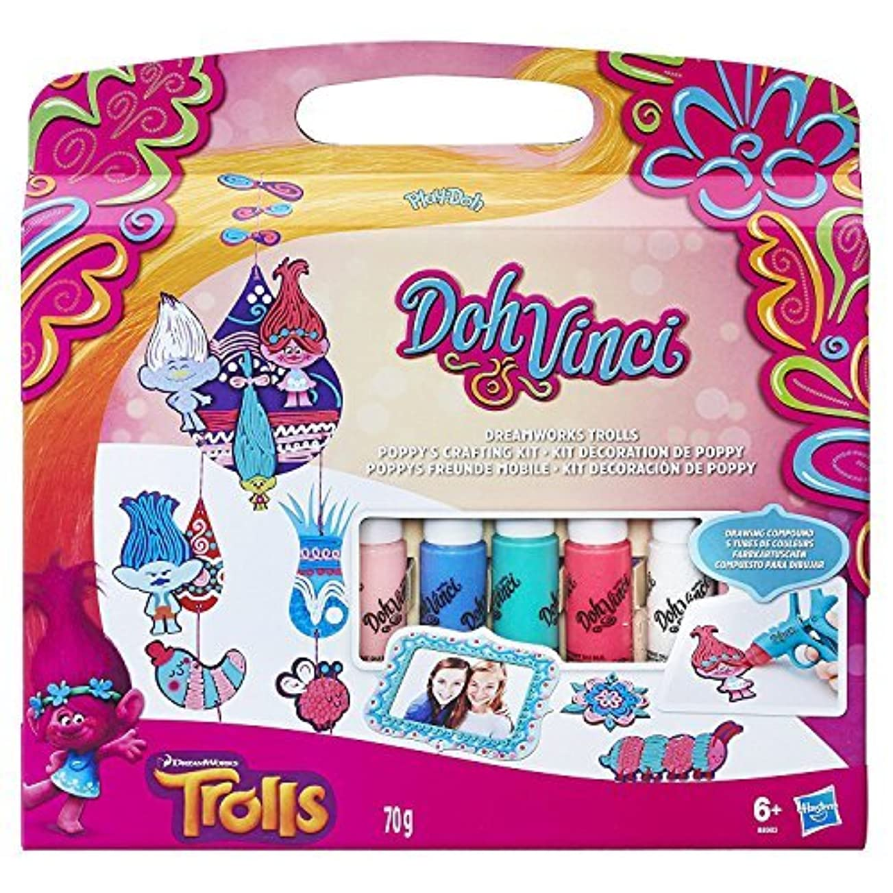 Play-Doh Doh Vinci Dreamworks Trolls Poppy's Crafting Kit [並行輸入品]