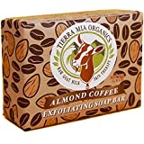Tierra Mia Organics, Raw Goat Milk Skin Therapy, Exfoliating Soap Bar, Almond Coffee, 3.8 oz