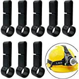 Headlamps Clips, 8 Pieces Helmet Headlamp Clips Hardhat Hooks for Various Headlamp and Hard Hat