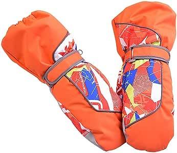 【First Pure】 キッズグローブ スキー スノボ グローブ KID'Sキッズ 子供用 Thermolite素材 手袋 防寒 防水 撥水 防風 暖かい すべり止め 雪かき アウトドア MAR-NO8