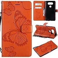LG V20 手帳型ケース、Scheam 衝撃防止 全面保護 人気 軽量 薄型 耐久性 LG V20 携帯電話ケース(Orange)