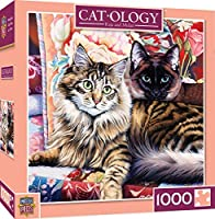 MasterPieces Puzzle Company Catology Raja & Mulan Puzzle (1000 Piece), Multicoloured, 60cm x 60cm
