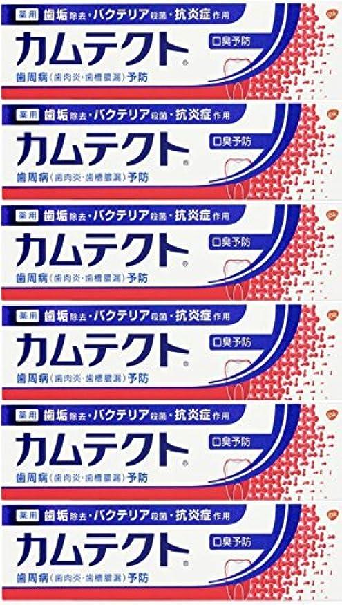 固有のスライスゼロ【まとめ買い】カムテクト 口臭予防 歯周病(歯肉炎?歯槽膿漏) 予防 歯みがき粉 105g×6個