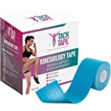 TACK TAPE Kinesiology Sports Tape with Gym Bag - Water & Sweat Resistant Therapeutic Tape for Performance Fitness Athletes, P