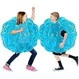SUNSHINEMALL 2 PC Bumper Balls, Inflatable Body Bubble Ball Sumo Bumper Bopper Toys, Heavy Duty Durable PVC Vinyl Kids Adults