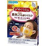 【2セット販売】花王 めぐりズム 蒸気でホットうるおいマスク ハニーレモンの香り 3枚入 呼吸がラクな通気性マスク ウィルス飛沫ガードフィルター