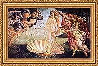 (v07–42–43) Sandro Botticelli The birth of venus_フレーム_キャンバス_ Giclee_プリント_ w35.5_ X h22 +[Large] #11-Gold V07-43K-MD535-01