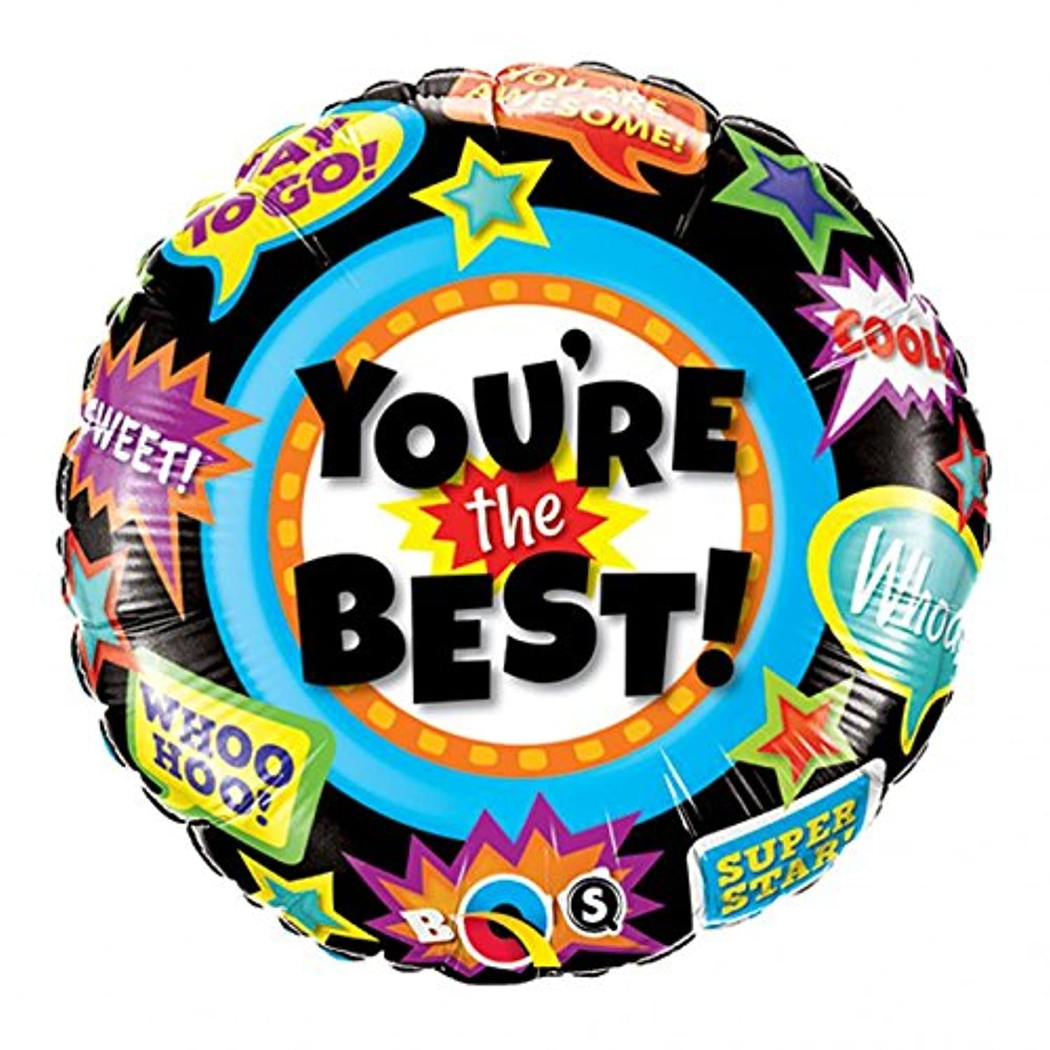 Qualatex 18 Inch Round Foil Balloon - Youre The Best Accolades