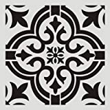 FOUR-C Floral Painting Stencils for Floor Wall Tile Fabric Furniture Wood Burning Art & Craft Supplies Mandala Template-Reusa