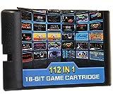 ゲームカード,112 in 1 ゲームカセット ゲームソフトfor セガ ジェネシスゲーム カートリッジ 内蔵112ゲーム Game Cartridge