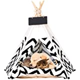 ANPI ペット用 ティピーテント ふわふわのクッション付き 屋内と屋外の使用 かわいい ベッド ペットアパート 中小型 猫犬ウサギ適し
