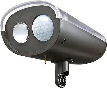 イーサプライ LEDセンサーライト 屋外 ソーラー 充電 防水 防雨 EEX-LEDSR02