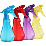 Pack of 4-8 Oz Empty Plastic Spray Bottles - Attractive Vibrant Colors - Multi Purpose Use Durable BPA Free Material
