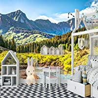 3D写真の壁紙自然の風景壁の壁画キャンバスステッカープレミアムアートプリント装飾ポスター画像モダンなホームデザインの装飾、200 cm(W)x 150 cm(H)-4ストライプ