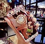 液晶保護フィルム付き  iphone6s ケース かわいい キラキラ iPhone6 ケース iPhone6s ケース デコ スワロフスキー風 ダイヤモンド Finger Ring Bumper Case iPhone 6s 落下防止リング付き 衝撃吸収 iPhone6s用ケース 4.7インチ  iPhone6s iPhone6 ケース カバー ゴージャス ローズゴールド RKS904