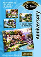 DivinityブティックグリーティングカードAssortment :記念日、Cottages with Scripture ( 21717N )