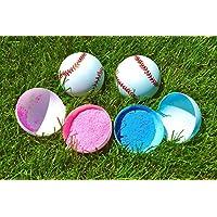 Gender Reveal Baseballs by SpinMaster | Gender Revealアイデアベビーシャワーテーマパーティーゲーム| Reveal素晴らしい方法赤ちゃん性別は( 2 )ブルーとピンク、男の子と女の子、|よりパウダーもの