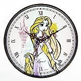 Disney ラプンツェル 壁掛け時計 アナログ表示 可愛い ディズニー キャラクター が プリント された 掛け 時計 プレゼント や お部屋の インテリア にも使える 雑貨 クロック (ラプンツェル×Disneyミニミニタオルセット)