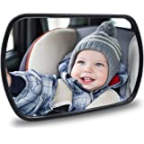 Baby Car Mirror - Rear View Baby Car Back Seat Mirror - Child Observation Mirror Wide Convex and Shatterproof - 2 way of Conn