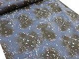 流星と星空 ネイビー紺 オックス生地   |シューティングスター |宇宙|スター|コスモ|星 |生地|布地|綿|コットン|