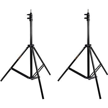 TARION 撮影 照明用 三脚スタンド ライトスタンド 2本セット 最大190cm アルミ製 3段式 撮影スタンド ブラケット
