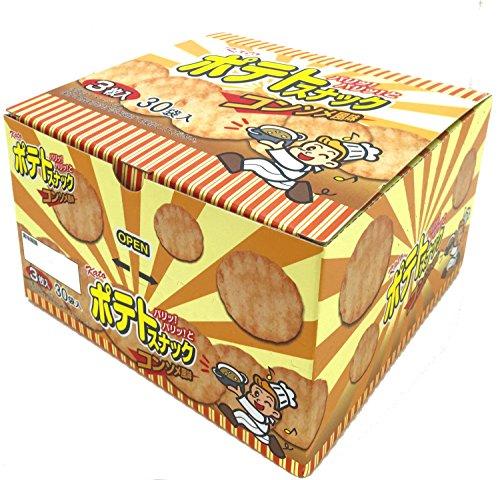 『かとう製菓 ポテトスナックコンソメ風味 3枚入×30袋』の2枚目の画像