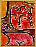 フレーム Paul Klee ジクレープリント キャンバス 印刷 複製画 絵画 ポスター (ホット・ブラッド・ガール)