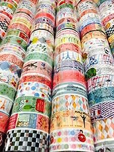 (トラベルザワールド)TravelTheWorld かわいい マスキングテープ 60個セット デザインいろいろ 楽しくデコる (1.5cm幅60個)