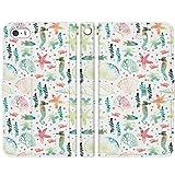 ヴァルバロッサ [iPhone5/5s/SE専用 手帳型 スマートフォン スマホ ケース カバー] 水彩 貝殻