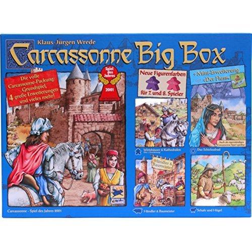 Carcassonne Big Box 2014 - Grundspiel mit Fluss & 4 Erweiterungen [German Version] by Schmidt Spiele [並行輸入品]