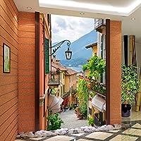 Sproud カスタム写真の壁紙のヨーロッパの町のストリートビューエントランスの背景近代絵画の壁画のウォールペーパーの家の装飾のリビングルーム 150 Cmx 105 Cm