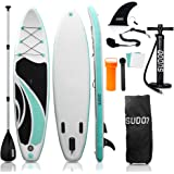 """SUDOO 10FT 3M Inflatable Stand Up Paddle Board SUP Board 6"""" Thick Surfboard LightweightNon-Slip EVA Deck SUP Package Complet"""