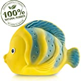 CaaOcho Ocean - La the Butterfly Fish Baby Bath Toy - Natural Rubber Bath Toy - Hermetically Sealed BPA PVC phthalates Free