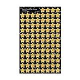 Trend Enterprises トレンド superShapes Stickers Gold Sparkle Stars 【ごほうびシール】 キラキラ星ご褒美シール 金 (400枚入り)