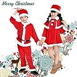サンタ コスプレ衣装 キッズ 2win2buy サンタ 衣装 子供 サンタ コスチューム キッズ 子供服 サンタクロース 帽子付き ロンパース ワンピース ポンチョ クリスマス 衣装 キッズ着ぐるみ (女の子*110cm)