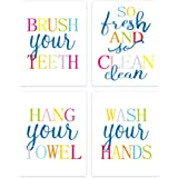Sanrx Inspirational Quote Typography Art Painting Poster,Watercolor Motivational Letterings Cardstock Art Print for Girls Wom