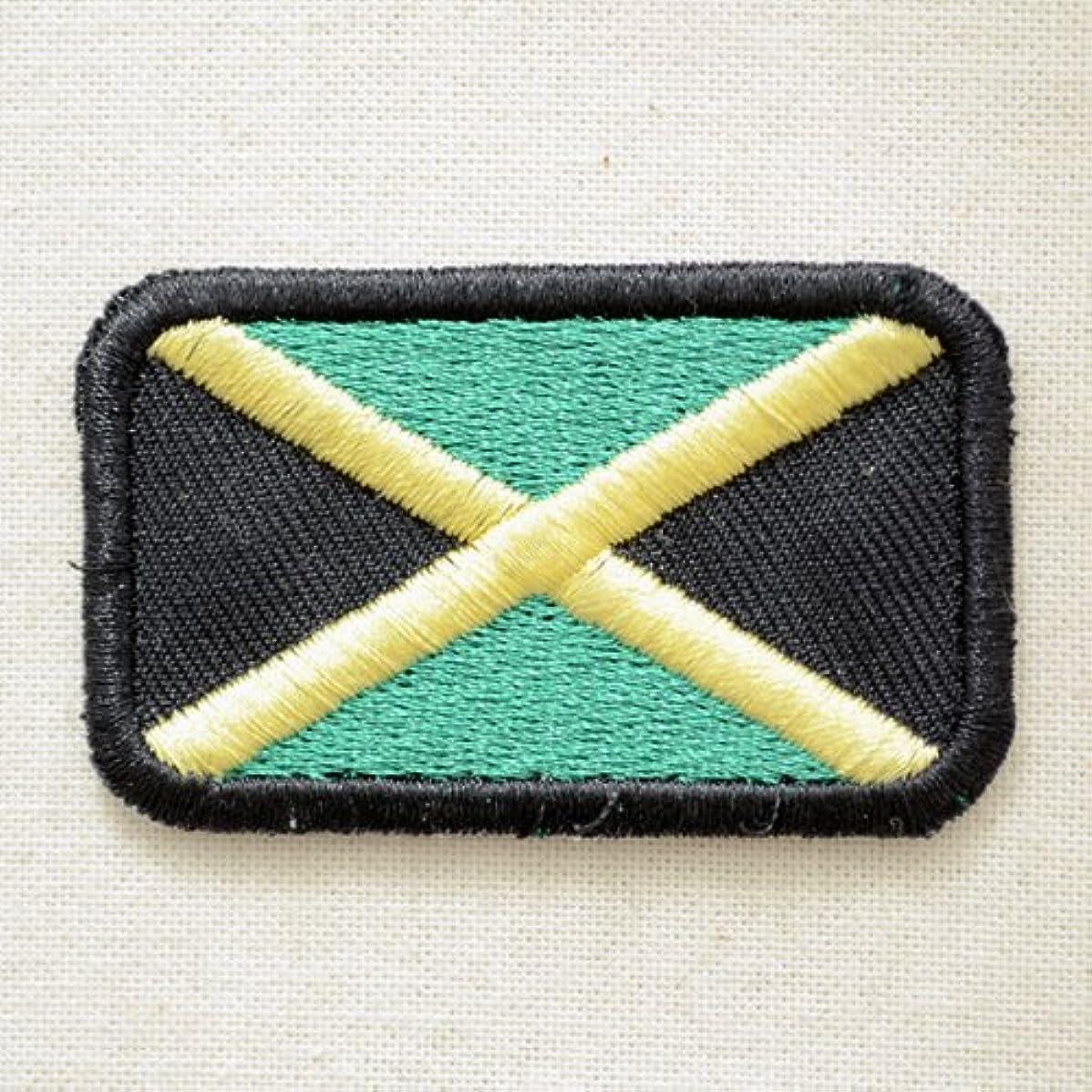 くま打撃阻害する国旗ワッペン Jamaica ジャマイカ(ミニ) MTW-119