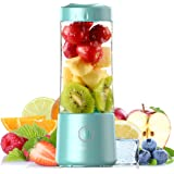 Personal Portable Blender, Mini Juicer Cup For Smoothies And Shakes 500ml Rechargeable With USB Battery Strong Power Ice Blen