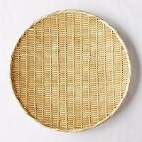【かごや】特選 丸盆ざる(竹ざる 水切りザル) 直径約45cm (A-7010)