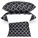 YASRKML Outdoor Waterproof Pillow Covers with Insert Patio Throw Pillowcase Cushion Covers 16x16 inch, Patio Decorative Squar