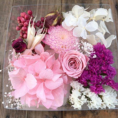 透明E プリザブード 花材 ピンク系詰め合わせ プレゼント ハーバリウム ペッパーベリー