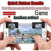 inverlee電話モバイルゲームトリガーFireボタンハンドルfor l1r1 ShooterコントローラPubg マルチカラー IN
