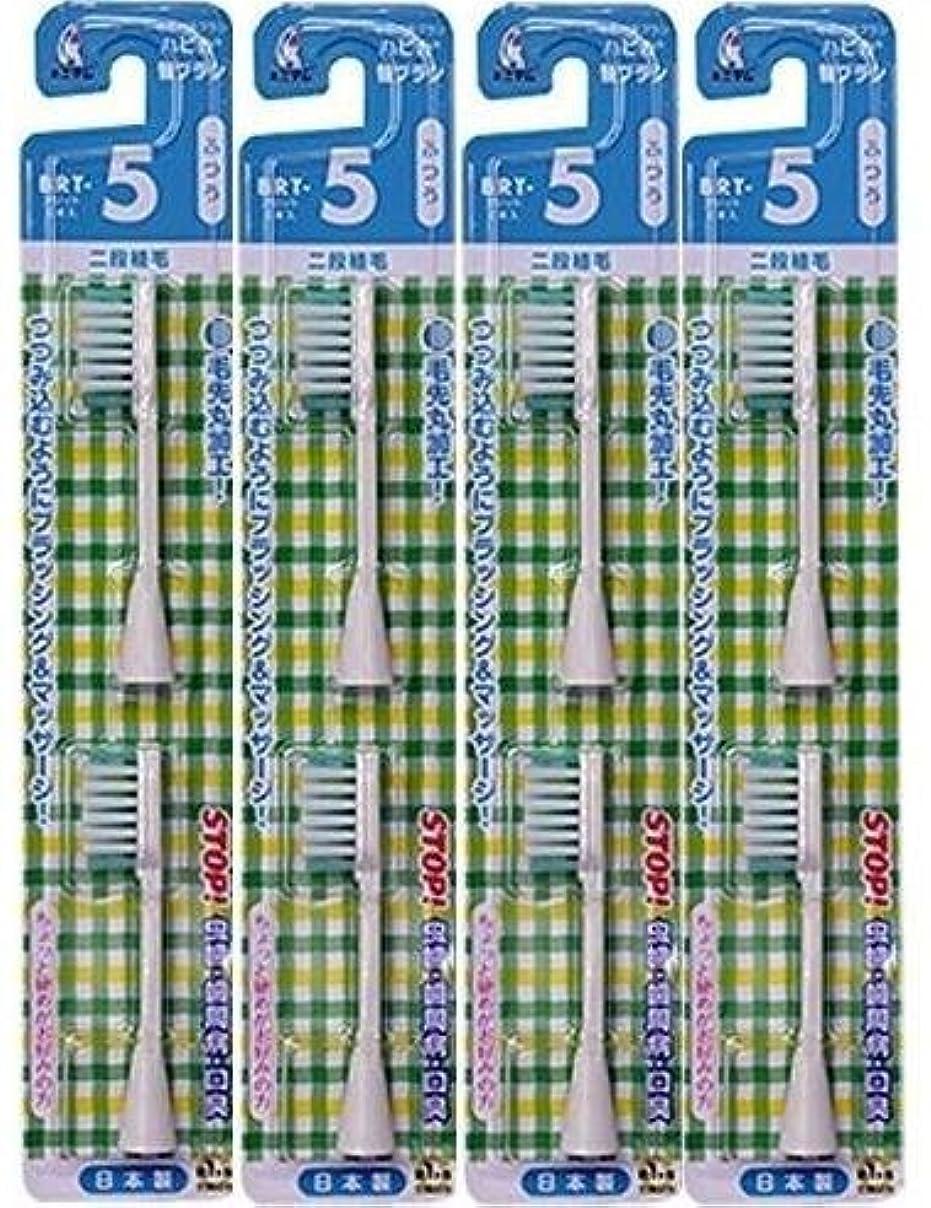 リードマトロン散髪電動歯ブラシ ハピカ専用替ブラシふつう 2段植毛2本入(BRT-5T)×4個セット