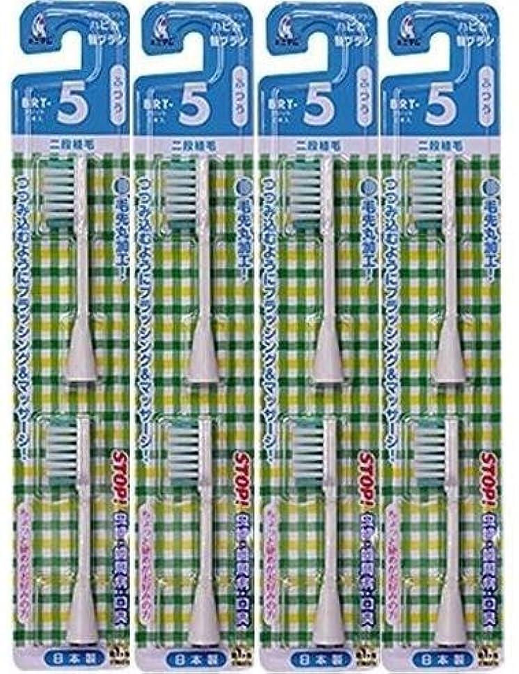 ブーストきらきらに同意する電動歯ブラシ ハピカ専用替ブラシふつう 2段植毛2本入(BRT-5T)×4個セット