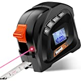 Laser Tape Measure 2-in-1,Distance Measuring Tape Laser Measure with LCD Digital Display,131 Ft/40M, Tape Measure 16 Ft /5M f